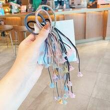 Новинка Детские милые цветные резинки для волос с тремя прядями