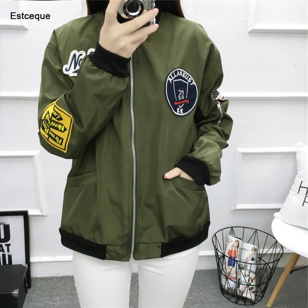 Basic     Jackets   Women 2019 New Fashion Women's   Jacket   Casual Flight Bomber   Jacket   Slim Windbreaker Female Outwear Women Coat