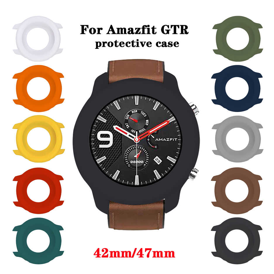 For Amazfit GTR Case Soft TPU Full Cover Protective Bumper Frame Protector for Xiaomi Huami Amazfit GTR 47mm Watch Accessories