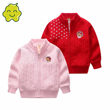 2021 New Children Sweaters Cardigan For Girl Clothing winter Cartoon Jackets Cartoon Baby Kid Knitted Sweater Coats Clothes