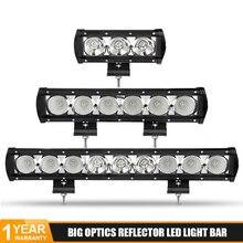 цена на DERI 8 14 20 27 34 40 inch Single Row Spot Flood Combo Led Bar for Off road Truck SUV ATV Car External Light work lamp 12V 24V