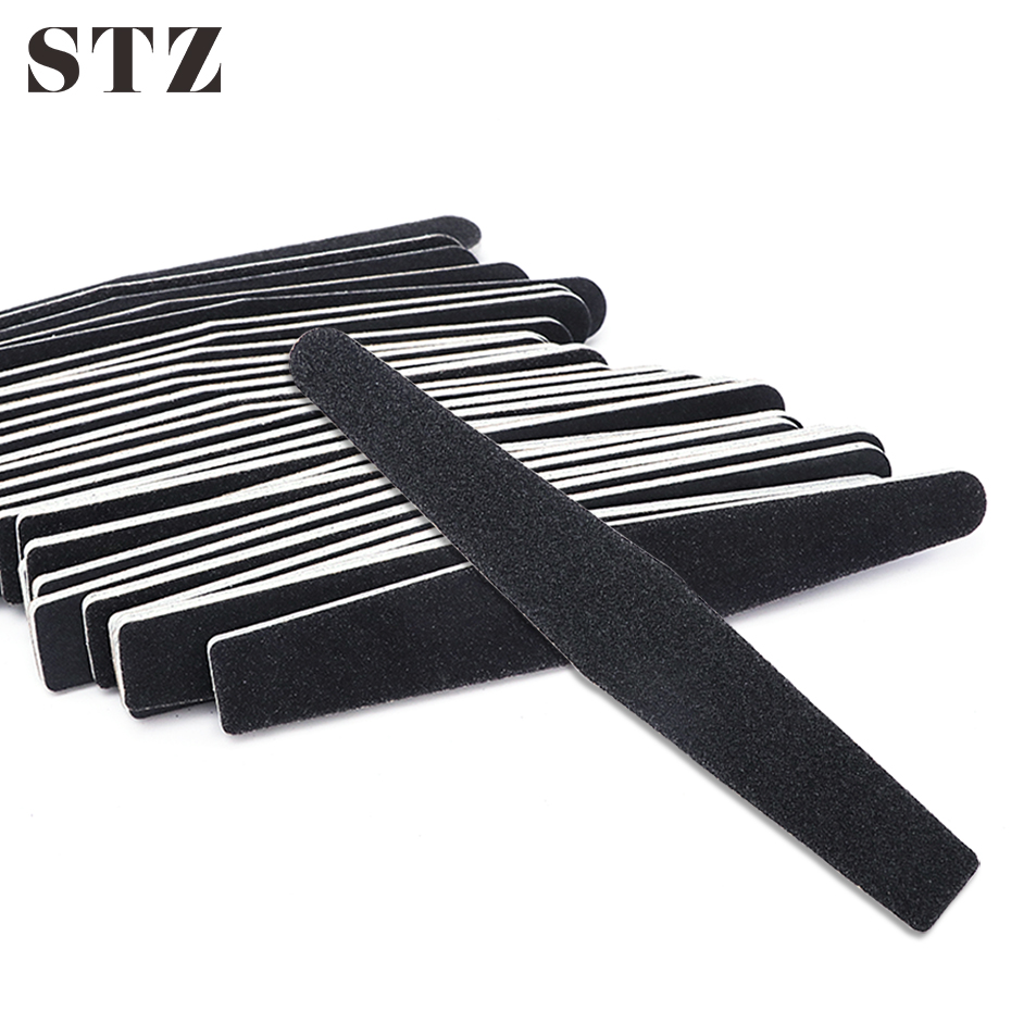 STZ 5pc Sandpaper Nail File For UV Gel Polish Manicure 100/180 Double Side Sanding Buffer Block Professional Nail Care Tool #833