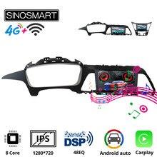 Sinosmart Radio samochodowe z nawigacją GPS dla Hyundai Sonata 8/9 generacji 2011-2019 2din 2.5D ekran IPS/QLED 8 rdzeń, DSP 48EQ