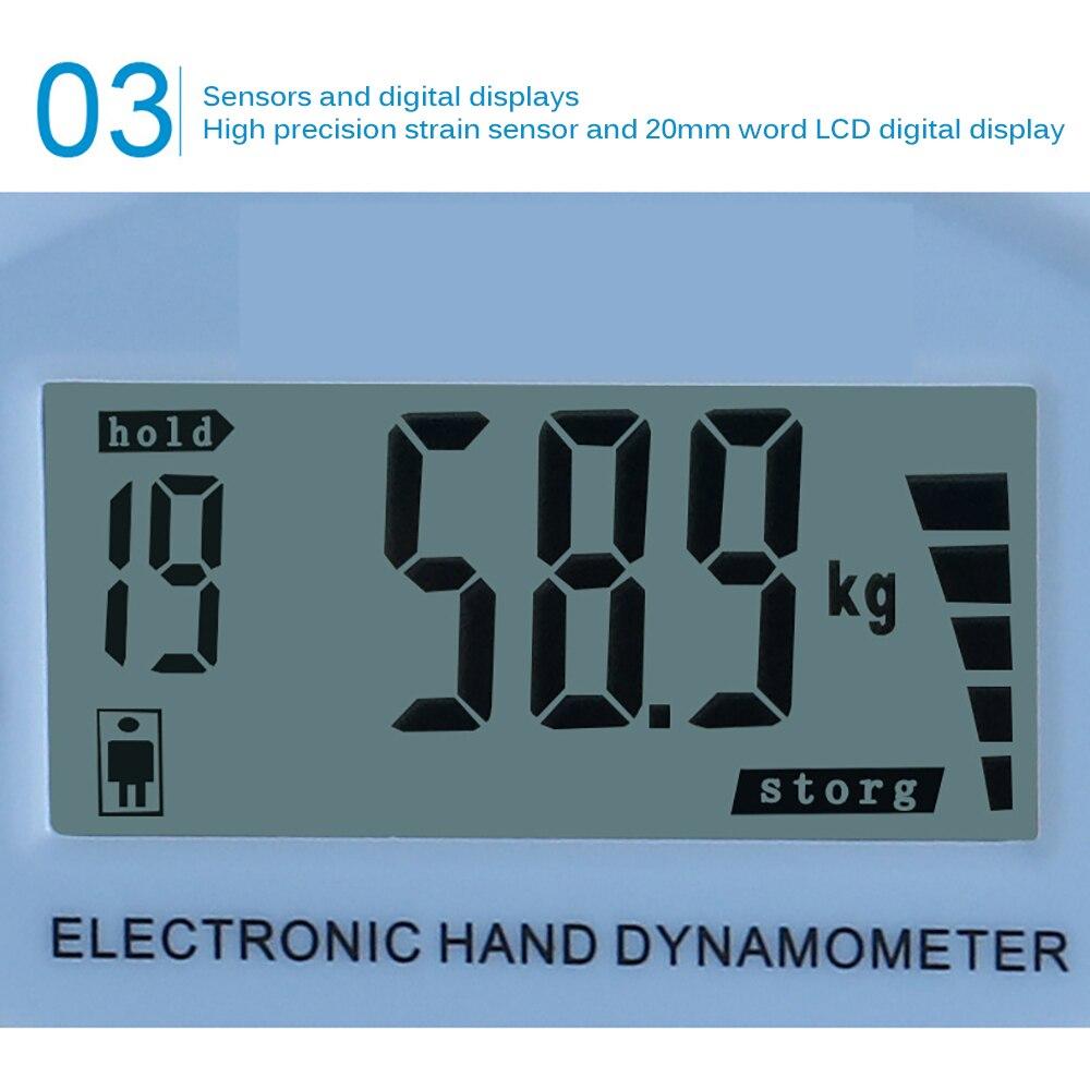 Цифровой ЖК-динамометр ручной захват измеритель мощности Регулируемый большой ЖК-экран открытый фитнес-Аксессуары