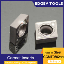 Cermet Inserts CCMT060202 CCMT060204 CCMT21505 CCMT2151 CCMT Carbide Inserts CNC Lathe Boring Bar Tools Steel For HQ TN60
