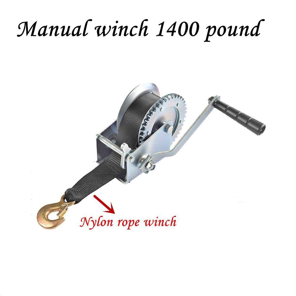 Manual Winch 1400 Pound Nylon Rope Winch