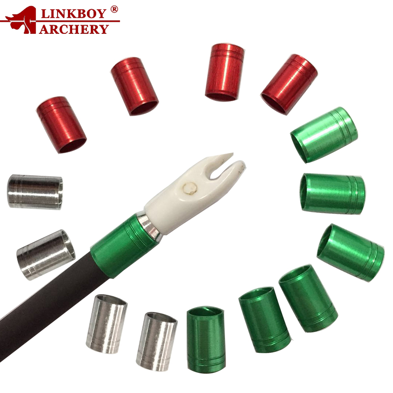 12pcs Linkboy Archery Prevent The Arrow From Bursting Explosion-proof Arrow Ring ID5.5/5.7/6.0mm Bow And Arrow Hunting Shooting