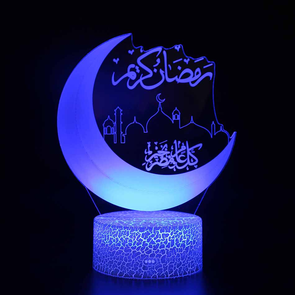 Moon Lamp 7 Color Change 3D Light Touch Switch 3D Print Lamp Moon Bedroom Bookcase Night Light Creative Good Night Gifts