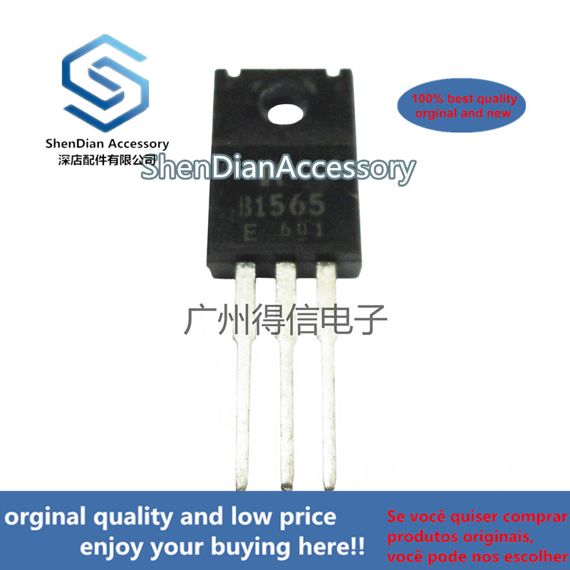 10pcs 100% New And Orginal 2SB1565E B1565 TO-220F Silicon PNP Power Transistors  In Stock