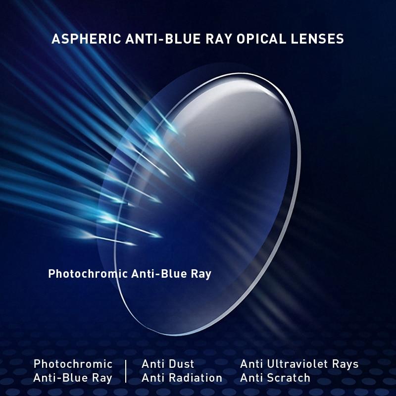 Image 3 - MERRYS Anti Blue Light Rays Photochromic Series 1.56 1.61 1.67 Prescription CR 39 Resin Aspheric Glasses Lenses Myopia LensEyewear Accessories   -