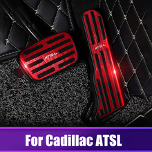Aluminium alloy Car Auto Accelerator Gas pedal Brake pedals Non Slip Pad Cover Case AT For Cadillac ATSL Car styling Accessories car aluminium alloy key case cover