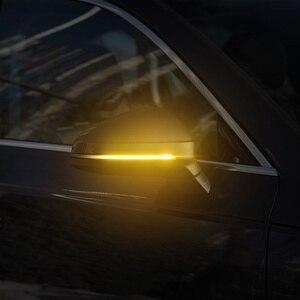 Image 5 - 2 חתיכות דינמי נצנץ מראה אור לאאודי A4 A5 B8 A3 8P Q3 A6 C6 4F S6 LED איתות צד מחוון נצנץ SQ3 A8 D3 8K