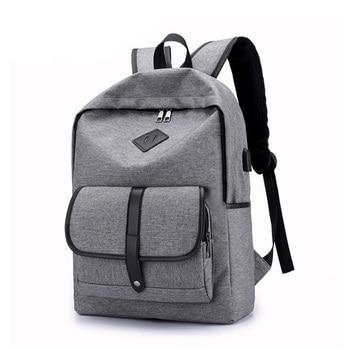 Casual Men 15.6 Inch Laptop Backpack Anti Theft Backpack USB Student School Notebook Bag Oxford Waterproof Travel Knapsack