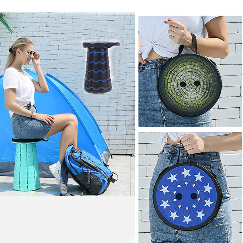 2020 New Outdoor Telescopic Stool Portable Stool Folding Portable Stool Easy To Carry Outdoor Equipment Load-bearing 150KG