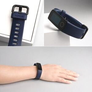 Image 5 - Original huawei honor band 5 4 inteligente pulseira de oxigênio no sangue 0.95 detect tela sensível ao toque detectar nadar postura freqüência cardíaca sono snapbracelet