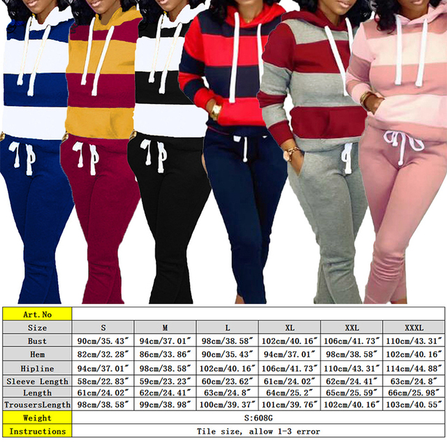 Winter Tracksuit Women 2 Piece Set Sweatshirt Print Hoodies+Pants Sportwear Women's Sports Suit Female Hooded Set Hoodies Suit 6