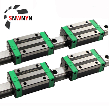 HGR15 HGR20 Square Linear Guide Rail 2pc+4pcs HGH15CA/HGW15CC HGH20CA/HGW20CC Slide Block Carriages For CNC Router Engraving 2pcs hiwin linear guide hgr20 l1000mm with 4pcs linear carriage hgh20ca cnc parts
