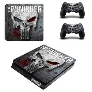 Image 3 - The Punisher PS4 Slim Skin Sticker Decal Cover Vinyl for Playstation 4 DuslShock 4 Console & Controller PS4 Slim Skin Sticker