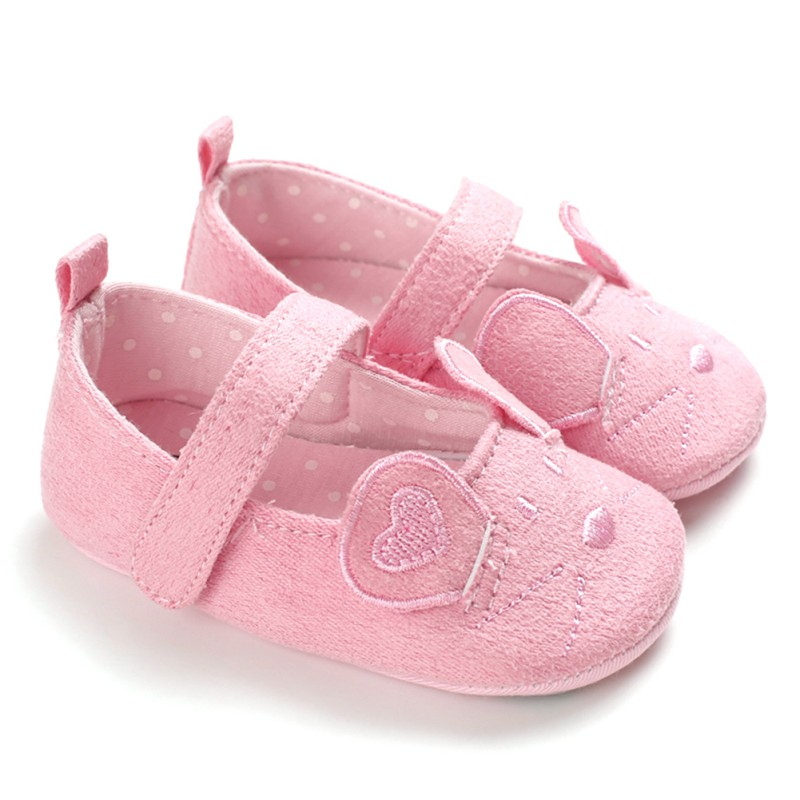 2019 Cotton Grey Baby Shoes Pink  Cartoon Mouse Soft With Pattern Shading Soft Sole First Walkers Shoes