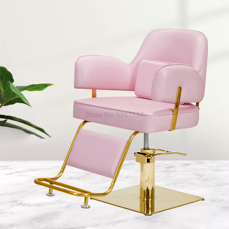 Barber Shop Net Red Hair Salon Chair Hair Salon Special Hairdressing Chair Can Be Raised And Lowered Simple Haircut Chair Stool
