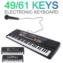 49 / 61 Keys Electronic Keyboard Piano Digital Music Key Board with Microphone Children Gift Musical Enlightenment