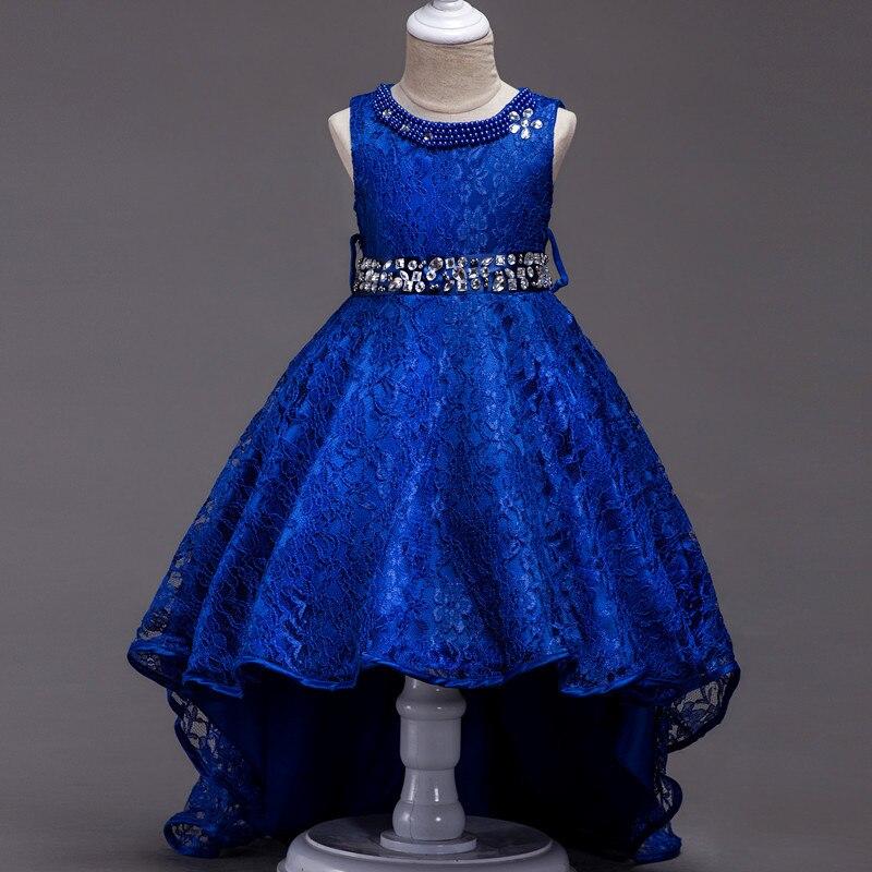 Hot Selling Girls Dress Children's Costume Dance Skirt GIRL'S Lace Princess Long Tail Skirt