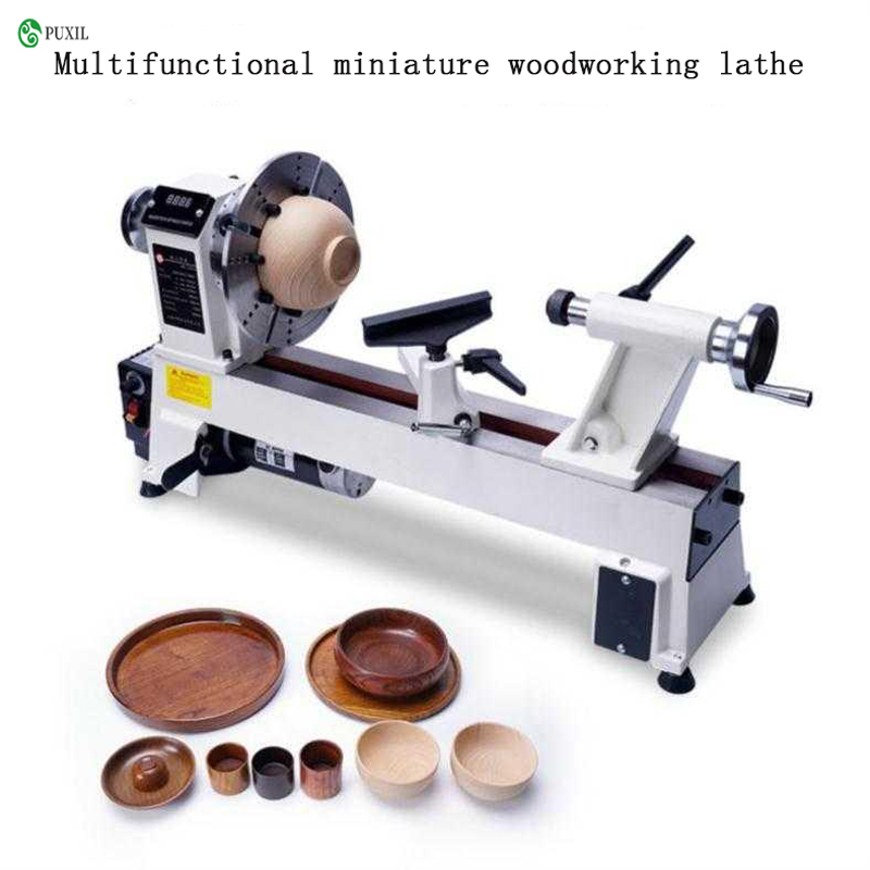 Wood Bead Processing Equipment Small Rotary Grinding Lathe Variable Speed Chuck Mini Wood Lathe
