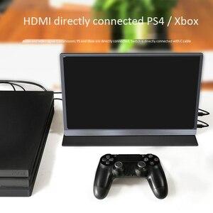 Image 1 - Портативный сенсорный экран 15,6 4K USB 3,1 Type C, для Ps4, коммутатора, телефона, игрового монитора, ноутбука, ЖК дисплея
