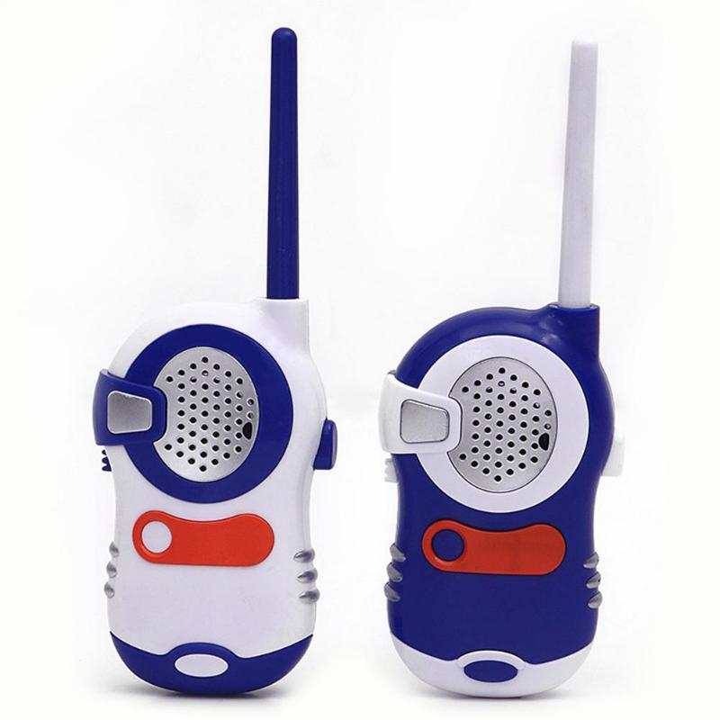 2pcs Mini Electronic Safety Walkie Talkies Toys Outdoor Parent-Child Interactive Game Camping Electric Game Kid Gift