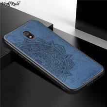 For Xiaomi Redmi 8A Case Xiaomi Redmi 8 Bumper TPU Frame Cloth Fabric Protective Back Cover For Xiaomi Redmi 8A Phone Cases acetate optical glasses frame men full retro vintage round circle prescription eyeglasses nerd women spectacles myopia eyewear