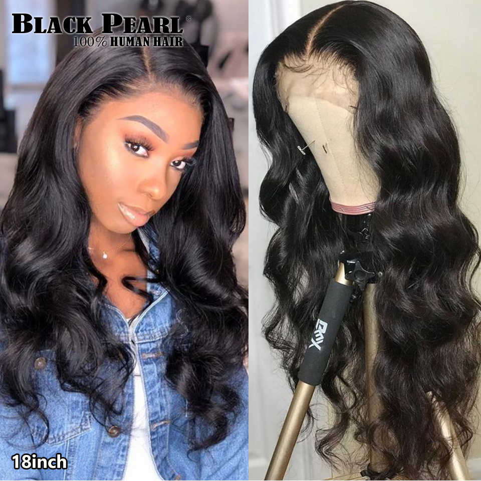 Schwarz Perle Körper Welle Spitze Vorne Perücke 13X4 Menschliches Haar Perücken 8-30 Zoll Brasilianischen Vor-gezupft Spitze front Menschliches Haar Perücken