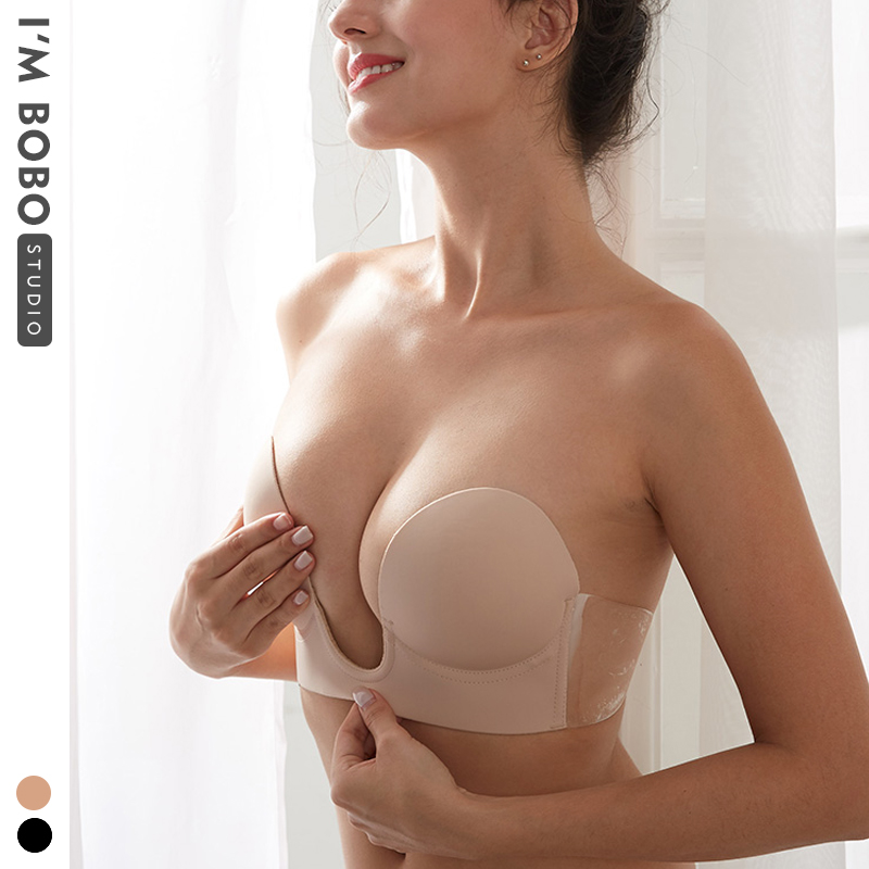 Chest stickers non-marking invisible bra breast paste gathered wedding thickened breathable dress open back strapless underwear