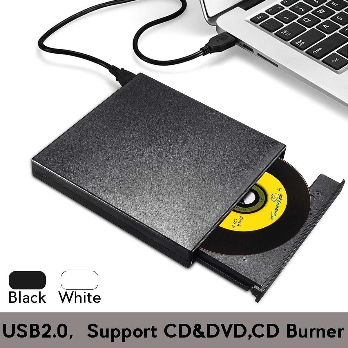 Usb 2.0 externo combinado dvd/cd burner rw drive cd/DVD ROM CD RW player unidade óptica para computador portátil componentes do computador|Unidades óticas|   -