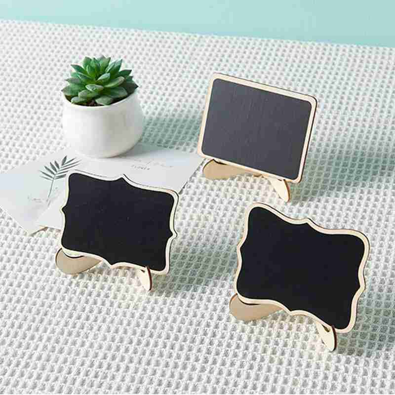 1pc Handmade Blackboard Mini Wooden Small Table Number Chalkboard For Students Diy Assembled Handmade Wooden Drawing Board