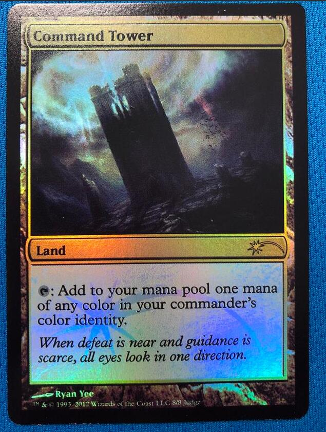 Command Tower	Judge Gift Cards 2012 Foil Magician ProxyKing 8.0 VIP The Proxy Cards To Gathering Every Single Mg Card.