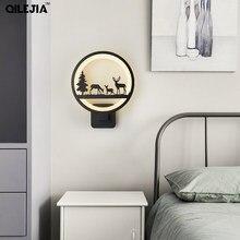 Akrilik duvar lambası yaratıcı oturma odası yatak odası başucu lambası çocuk modern minimalist koridor merdiven dekoratif duvar lambaları