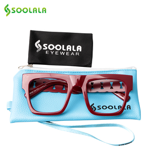 Image 3 - SOOLALA Square Oversized Reading Glasses Women Men Special Arms Clear Lens Presbyopia Computer Reading Glasses 0.5 to 5.0