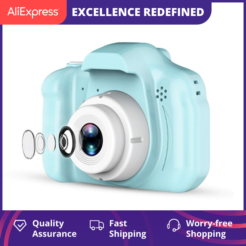 Children's Camera Mini HD Video with SD Card Intelligent Shooting Children's Digital Camera Sports Toys for Kids Gift