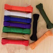 Dia 2mm 5 10 20 30 Meters 1 stand Paracord Parachute Cord Lanyard Tent Rope For Hiking Camping Clothesline DIY Bracelet