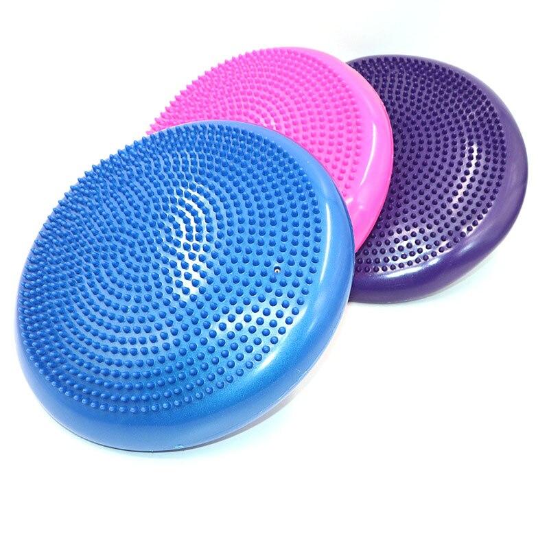 Прочный надувной Массажный мяч для йоги, Универсальный спортивный тренажерный зал, фитнес, йога, воблер, стабильный баланс, дисковая подушк...