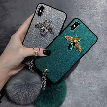 VOZRO Fund Hand Shell For Iphone 6s 7 8 Plus X XR XS 11 Pro Max Case Protect Bee Pattern Live Bring Bracelet Protect Sheath(China)
