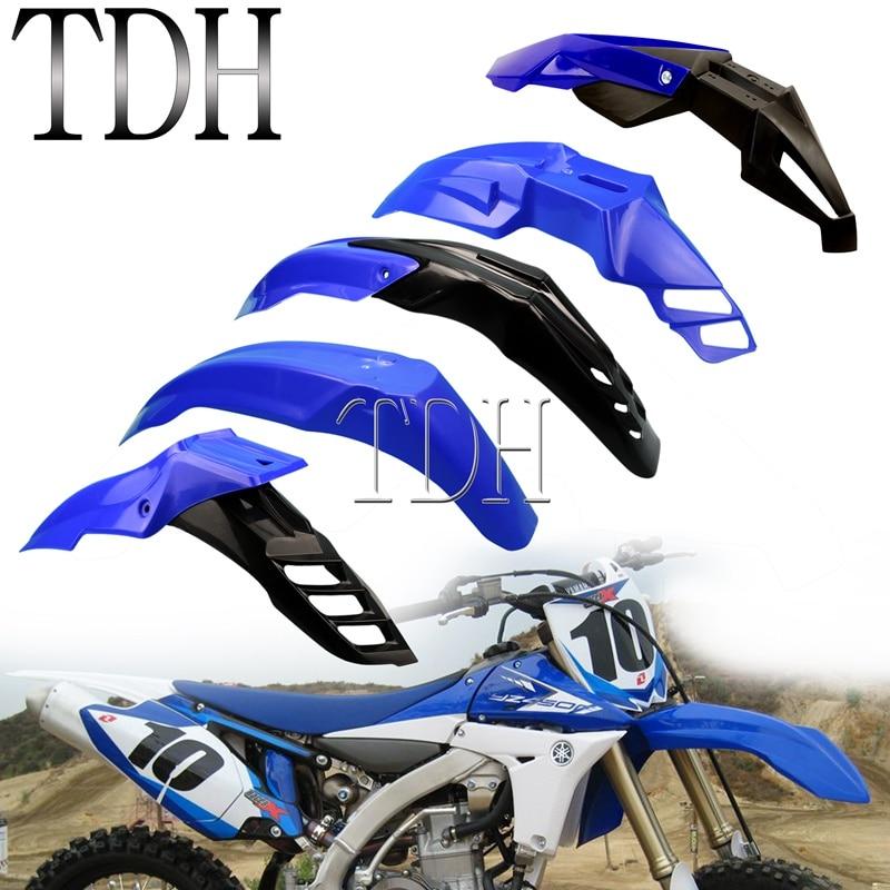 Синий Универсальный Эндуро Переднее Крыло MX Dirt Pit Bike Evo крыло для Yamaha TT-R230 WR250 WR450 YZ85 YZ125 WR WR-F YZ FX TTR 50