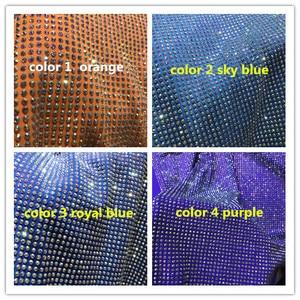 Image 5 - Heavy rhinestones French Tulle Lace Latest JIANXI.C 388809 Embroidered Net Lace Luxury rhinstones Lace Fabric