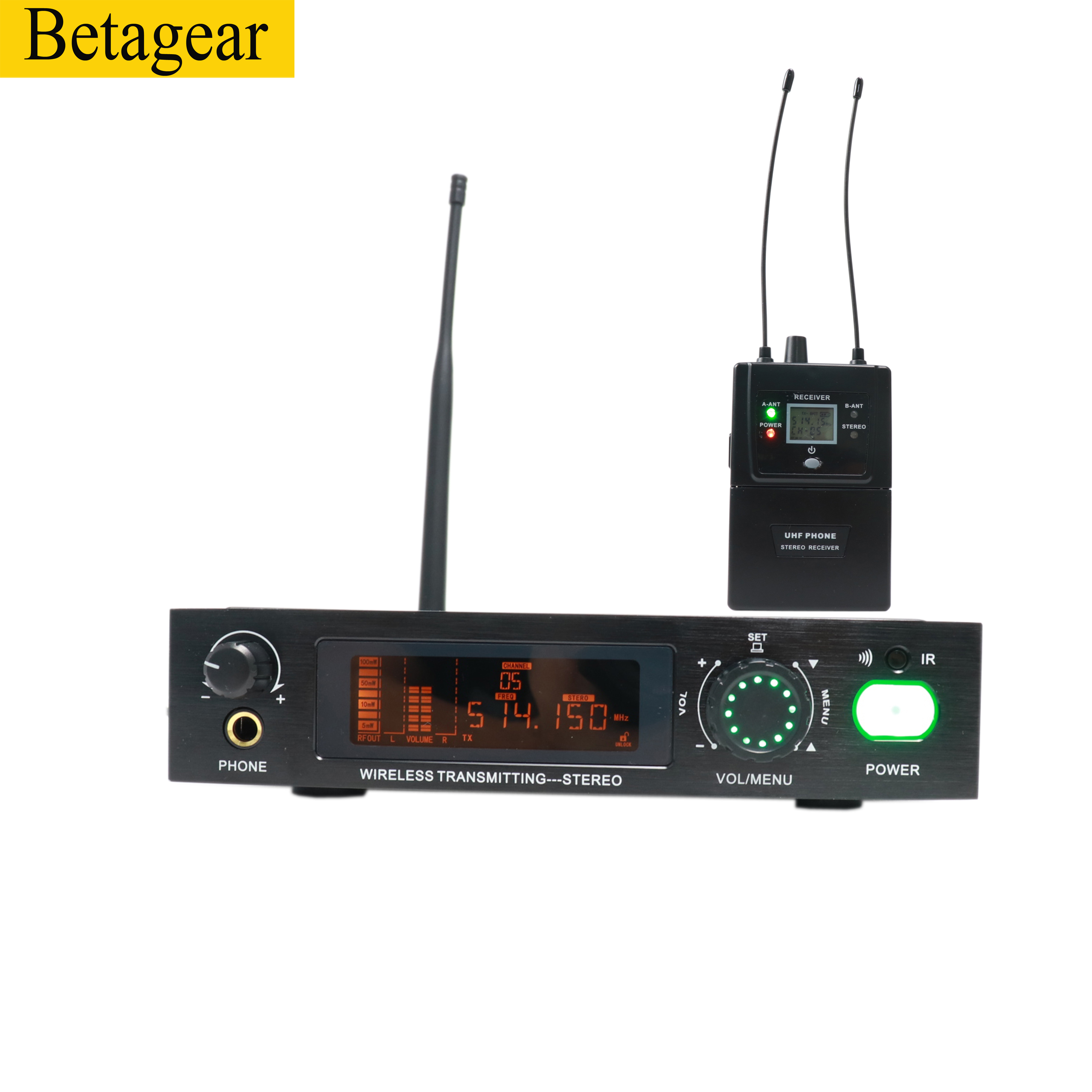 Betagear Stereo 782iem <font><b>in</b></font> ohr <font><b>monitor</b></font> professionelle bühne leistung drahtlose <font><b>system</b></font> audio aufnahme studio uhf <font><b>wireless</b></font> <font><b>monitor</b></font> image