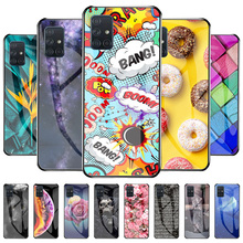 Cover Voor Samsung A71 Case Galaxy S21 Fe S20 Ultra Siliconen Gehard Glas Voor Samsung S30 S21 Plus Ultra S8 s9 Hard Telefoon Cover