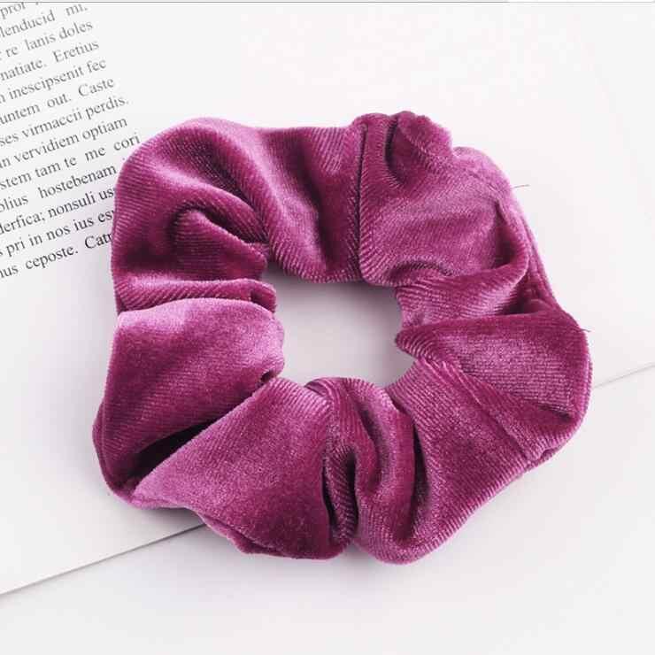 33 farben Korea Samt Haar Scrunchie Elastische Haar Bands Einfarbig Frauen Mädchen Headwear Pferdeschwanz-halter Haar Zubehör