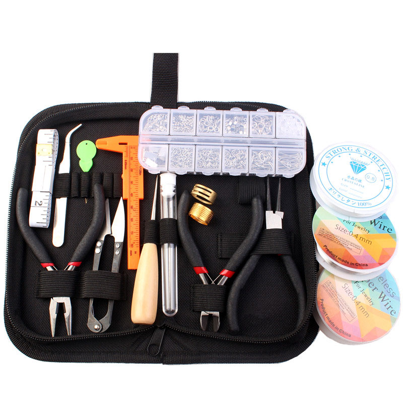 Jewelry Findings Starter Kit Jewelry Beading Making and Repair Tools Kit with Accessories Jewelry Making Kits