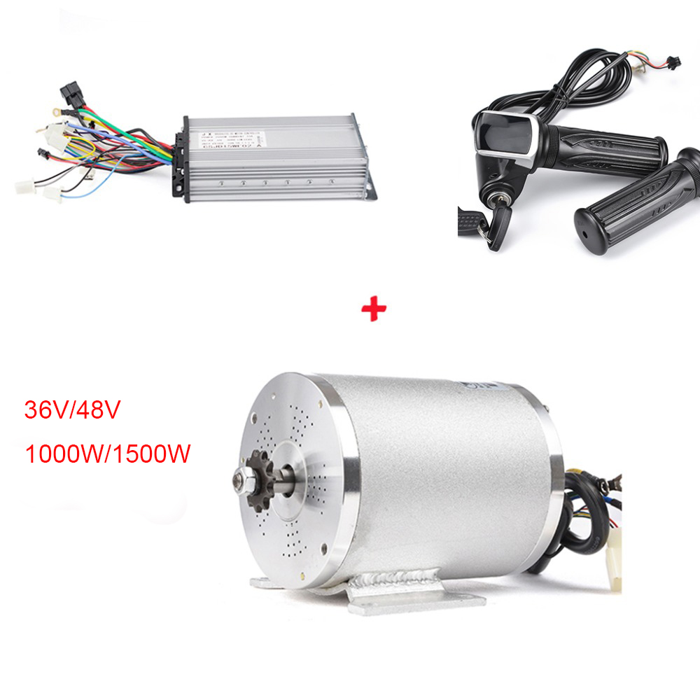 36 V/48 V rower elektryczny zestaw do konwersji 1000W silnik bezszczotkowy DC 1500W bldc kontroler z wyświetlaczem LCD twist przepustnicy łańcuszek na akcesoria