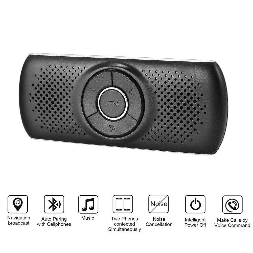 Kit Bluetooth Auto Wireless Bluetooth Car Kit Set Handsfree Speakerphone Multipoint Sun Visor Speaker For Phone Smartphones