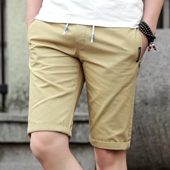 Newest Cotton Men Shorts Homme Beach Slim Fitness Bermuda Masculina Joggers Drawstring Elastic Waist Short Pants Summer 4xl Men's Bottoms